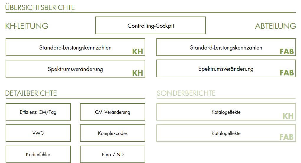 DRG-Berichtswesen Struktur